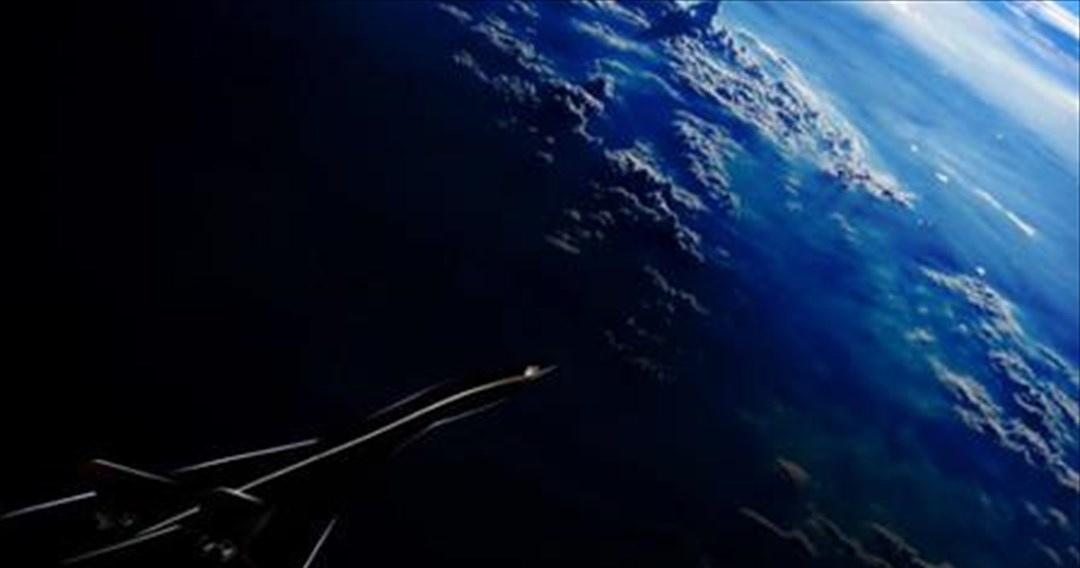 Επιβατηγό αεροπλάνο που πετά με ταχύτητα τετραπλάσια του ήχου